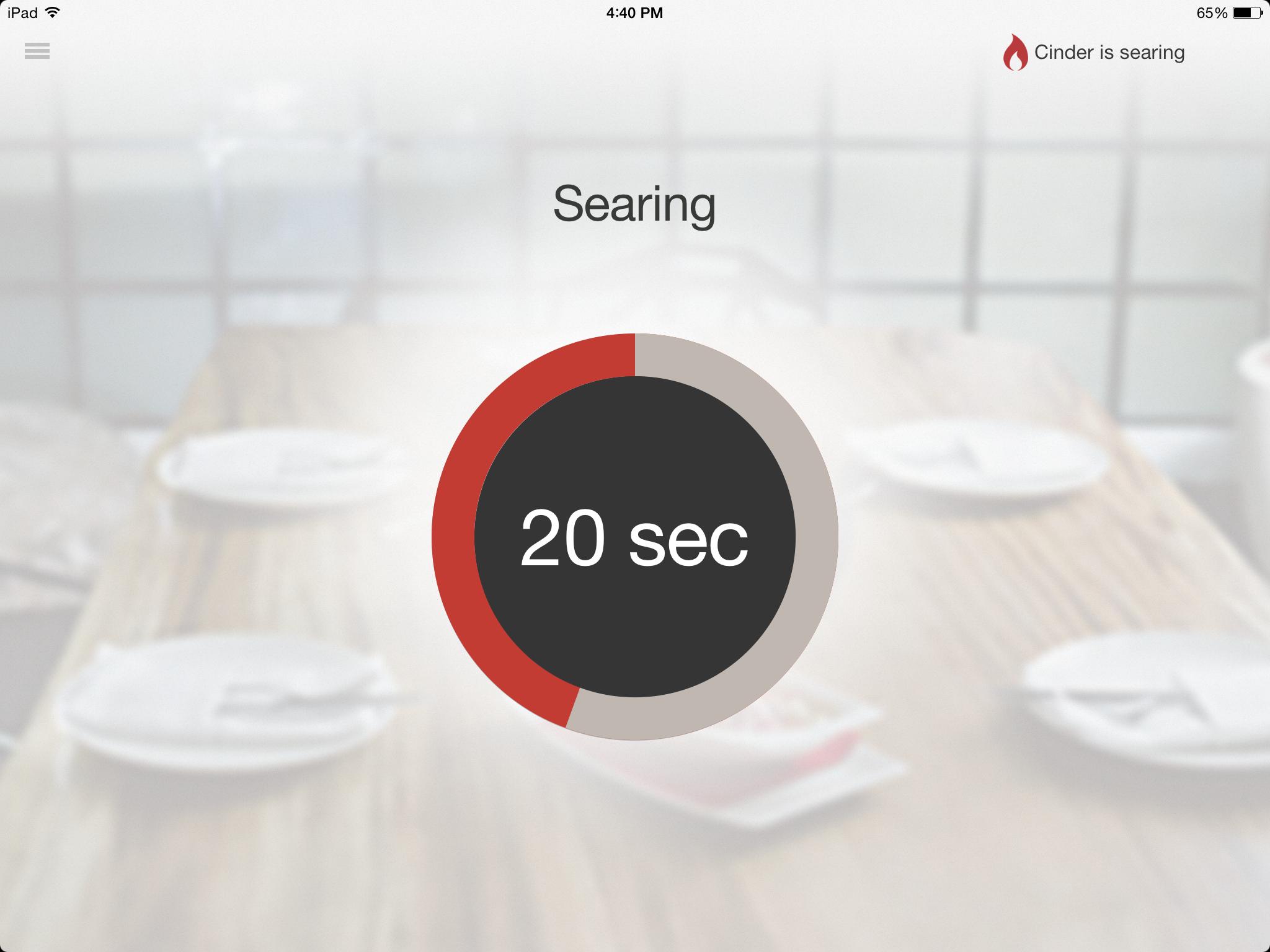 Cinder App-Searing